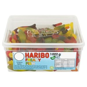 Haribo Freaky Fish Tub 120 Pieces