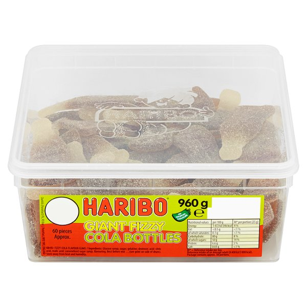 Haribo Giant Cola Bottles Z!NG - 60 Pieces
