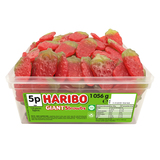 Haribo Giant Sour Strawbs - 120 Pack