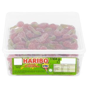Haribo sour Cherries 120 Pieces Per Tub