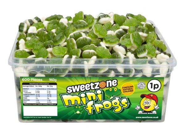 SweetZone 100% Mini Frogs 600 pcs