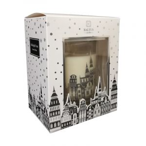 Baltus midnight frost candle in festive packaging