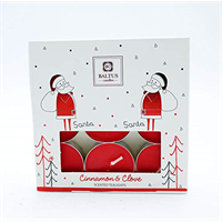 Baltus tealights with Santa image on packaging